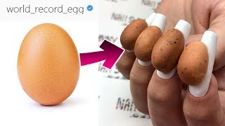 Egg from INSTAGRAM on your NAILS?THE craziest NAIL designs😱Strange Weird manicure ideas nail art