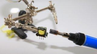 Намотка трансформатора для шокера инвертер напряжения