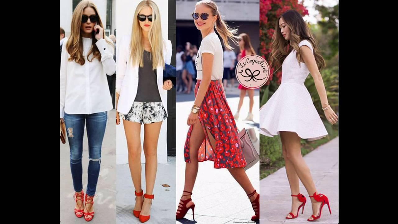 Ropa En Con Moda De Las Combinacion Zapatos Tendencias Rojos Últimas gaWqR6n4EY