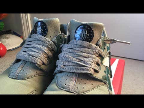 HOW TO LACE NIKE HUARACHE SHOES THE MOST EFFICIENT WAY