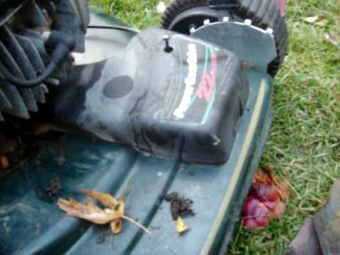 how to change a mastercraft mower belt