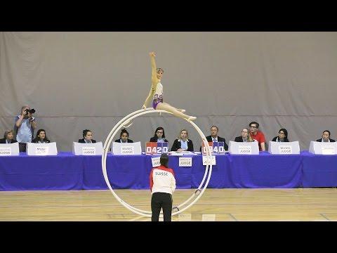 World Championships in Gymwheel 2016 Qualification Sabine Krumm straight line 17th Place