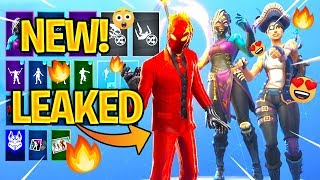 *NEW* LEAKED Fortnite Skins & Emotes..! (Fire Spinner, Shaman, Nightwitch, Buccaneer)