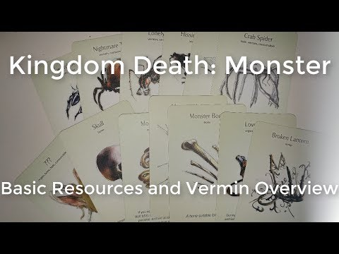 Kingdom Death: Monster Basic Resources and Vermin Overview