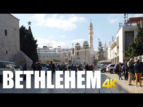 Bethlehem, Palestine Walking Tour 4k 60fps