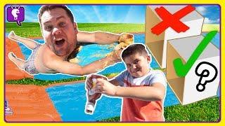 Food Mystery Box SLIDE Challenge by HobbyKidsTV