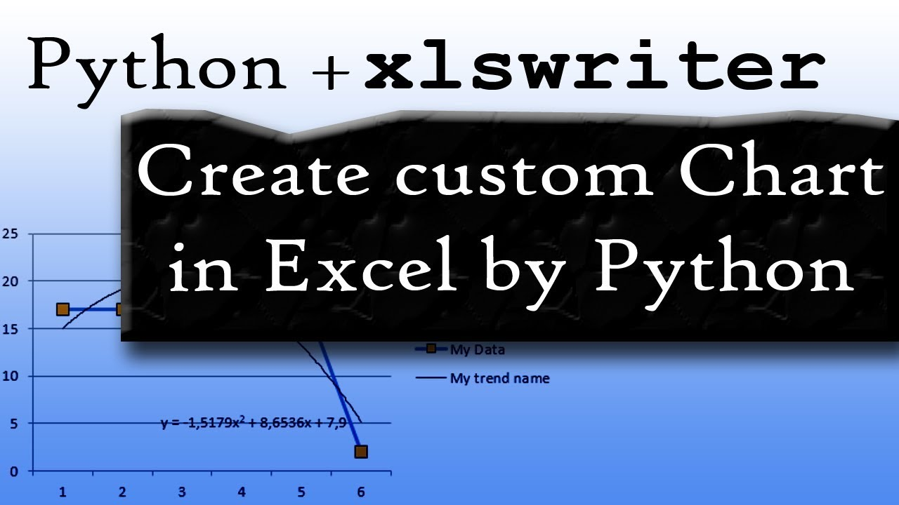 Build Excel Chart with Python by XLSXWRITER  Full Explanation and Example