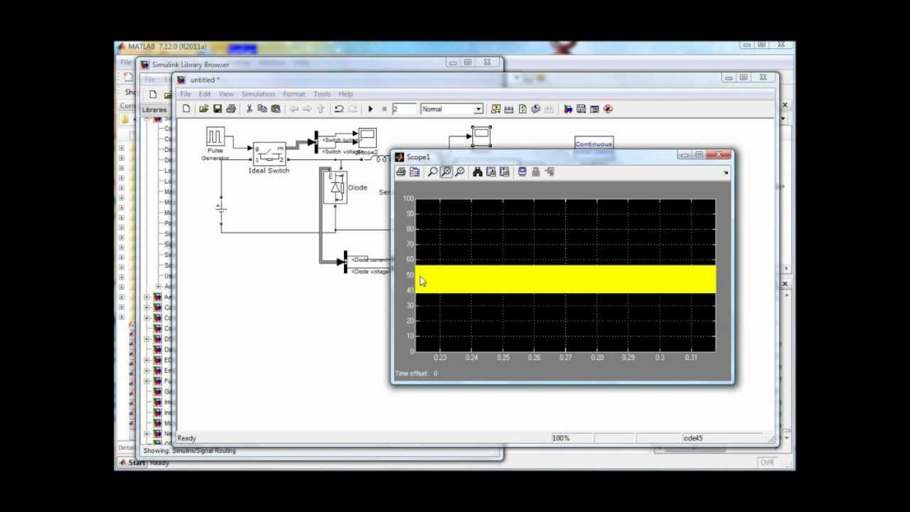 Buck Converter Using Matlab Simulink Youtube