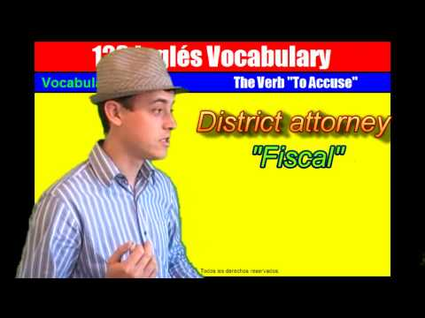 """Vocabulary Nº 7: El Verbo """"To Accuse"""""""