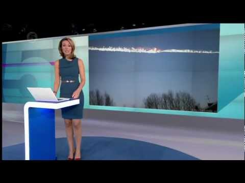 Channel 5 News report on meteorite that crashed into Chelyabinsk, Russia - 15th Feb 2013