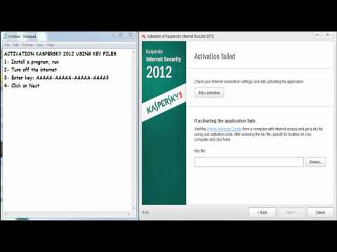 How To Activate Kaspersky 2013 Using Key File