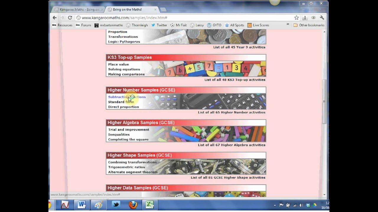 Mr Barton\'s Web Whizz Video 35 - Kangaroo Maths - YouTube