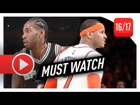 Carmelo Anthony vs Kawhi Leonard SUPERSTARS Duel Highlights (2017.02.12) Knicks vs Spurs - EPIC!