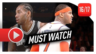 Carmelo Anthony vs Kawhi Leonard SUPERSTARS Duel Highlights (2017.02.12) Knicks vs Spurs - EPIC!