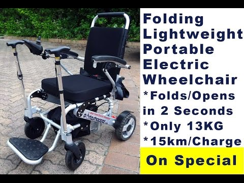 Wheelchair unfold videos you2repeat Portable motorized wheelchair