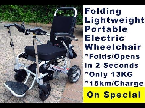 Folding Wheelchair - Portable Electric Wheelchair - Portashopper 3 - Electric Wheelchair