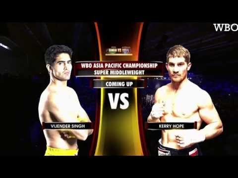 Vijender Singh vs Kerry Hope | WBO ASIA Pacific Title 2016 | Final Match | Official Highlights.
