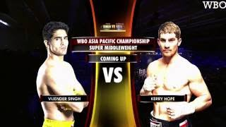 vijender singh vs kerry hope   wbo asia pacific title 2016   final match   official highlights