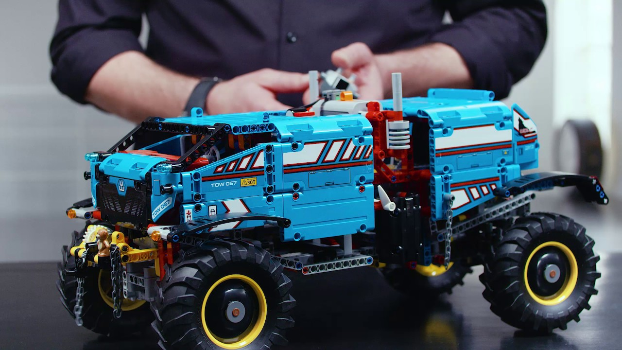 lego technic 42070 6x6 all terrain tow truck designer video youtube. Black Bedroom Furniture Sets. Home Design Ideas