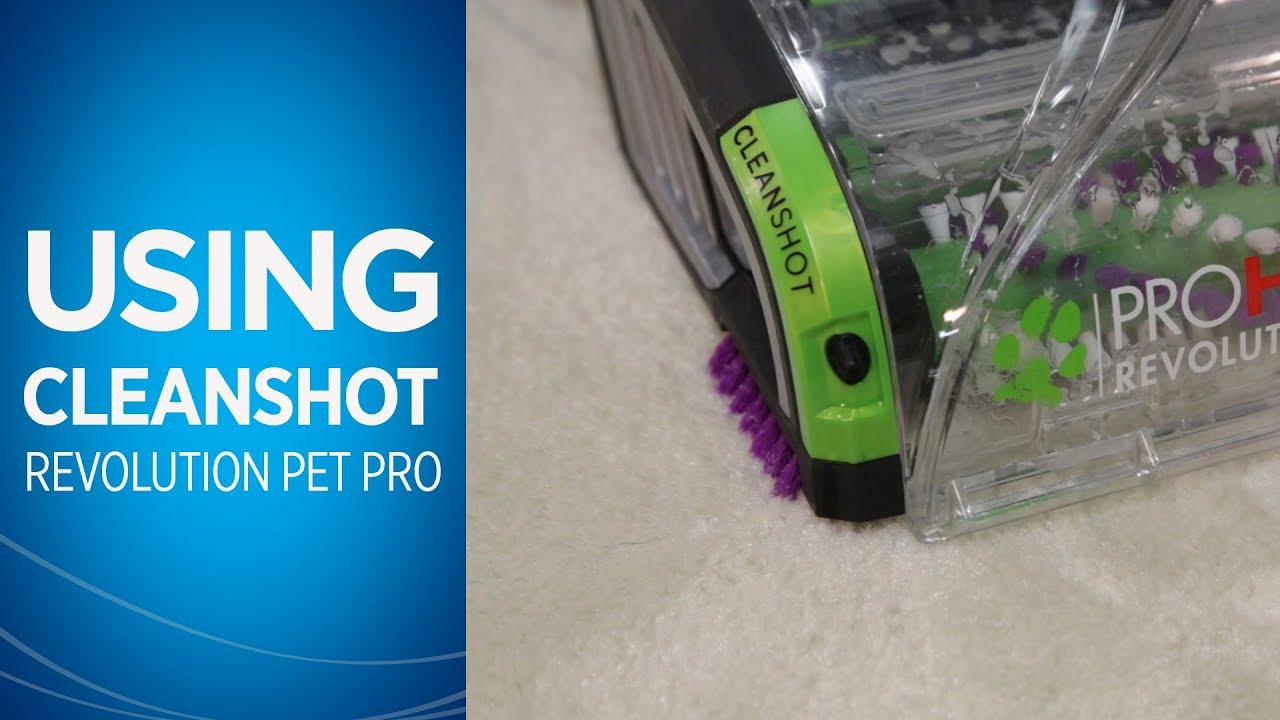how to use cleanshot on theproheat 2x revolution pet pro carpet cleaner bissell
