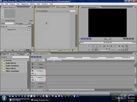 How to use: Adobe Premier Pro CS3 Part 2 - Getting Started