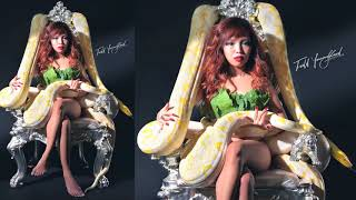 Reticulated python with Model, Photo shoot by Todd Youngblood