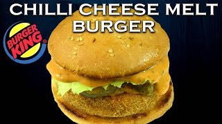 Make Chilli Cheese Melt Burger like Burger King at home| Cheese Chilli Burger| Yummylicious