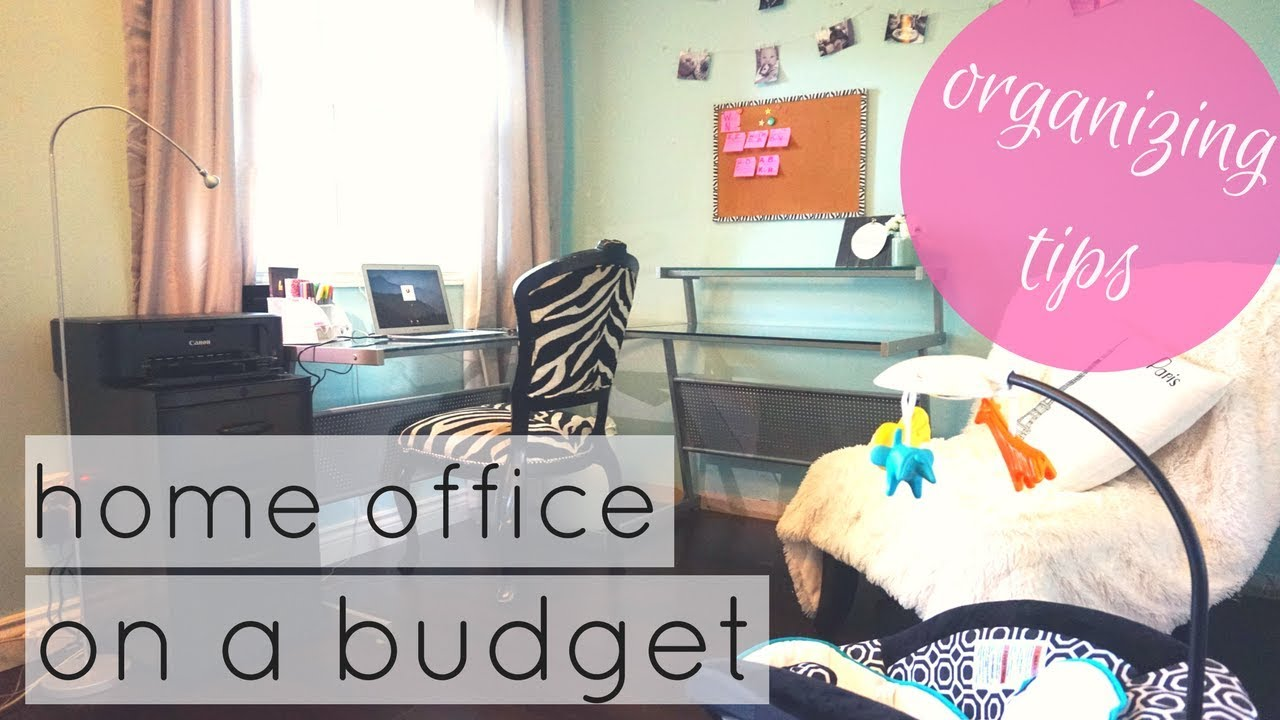 home office organization on a budget young mom youtube