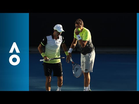 Andujar/Ramos-Vinolas v Groth/Hewitt match highlights (3R)   Australian Open 2018