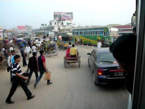 Local Bus from Bogra, Rajshahi Div. to Dhaka - Bangladesh in 2011