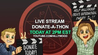 LIVE NOW - SUPERNATURAL PARODY 2 DONATE-A-THON (Part 3)