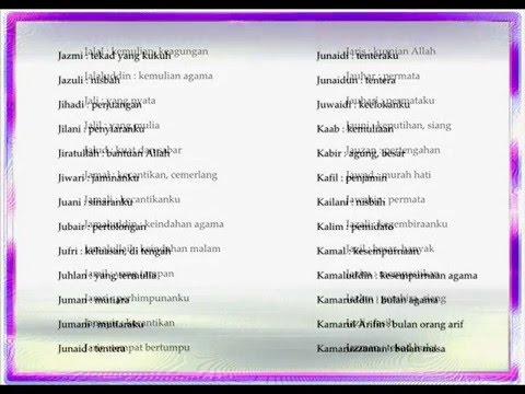 Nama Islam Anak Laki Laki Berawalan Huruf I J K Youtube