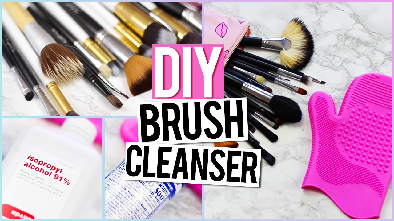 How To Clean Makeup Brushes Diy Brush Cleanser Life Hack Youtube