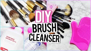How To Clean Makeup Brushes + Diy Brush Cleanser Life Hack!