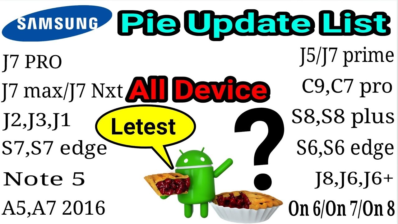 New Samsung Android Pie Update list|All samsung mobile in Details