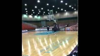 Big Easy Hits Half Court Hook Shot Blindfolded Video