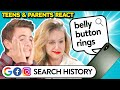 Teens & Parents React To Each Other's Search History (Google, Facebook, Instagram)