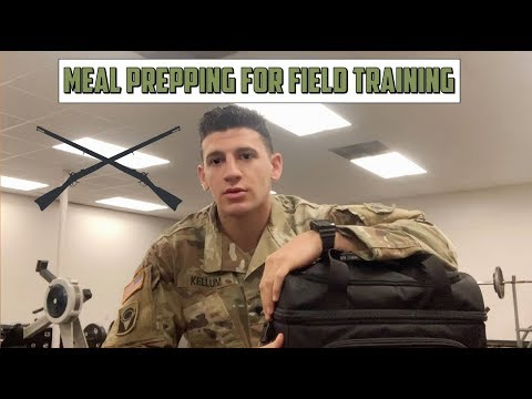Field Training in The Army National Guard | Meal Prepping for a 4 day FTX| Army VLOG