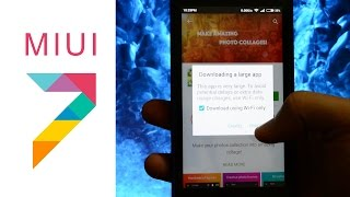MIUI 7 : PLAY STORE / DOWNLOAD LIMIT / waiting for WiFi / LARGE FILE DOWNLOAD EASY FIX