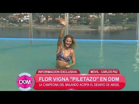 Flor Vigna y su lomazo en la pileta ¿Cuánto entrena por día?