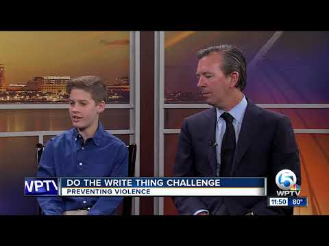 'Do the Write Thing Challenge' works to prevent violence in Palm Beach County