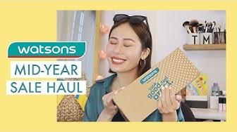 Săn đồ sale dưới 300k ở Watsons 🤩   Watsons Mid-Year Sale Haul   Mailovesbeauty TV