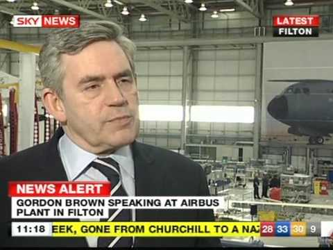 Gordon Brown interview 22 April on Sky News before 2nd debate