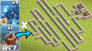 "IMPOSSIBLE AIR MAZE!! ""Clash Of Clans"" NEW  LVL 7 AIR SWEEPER!!"