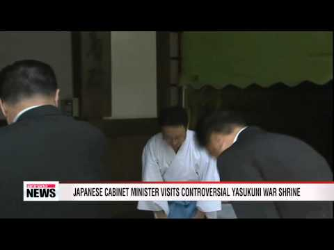 Japanese cabinet minister visits controversial Yasukuni war shrine