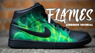 HOW TO AIRBRUSH FLAMES | 2 MINUTE