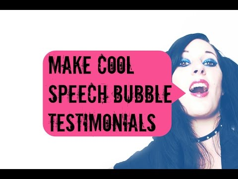 How to make CUTE speech-bubble testimonials for your website & sales pag