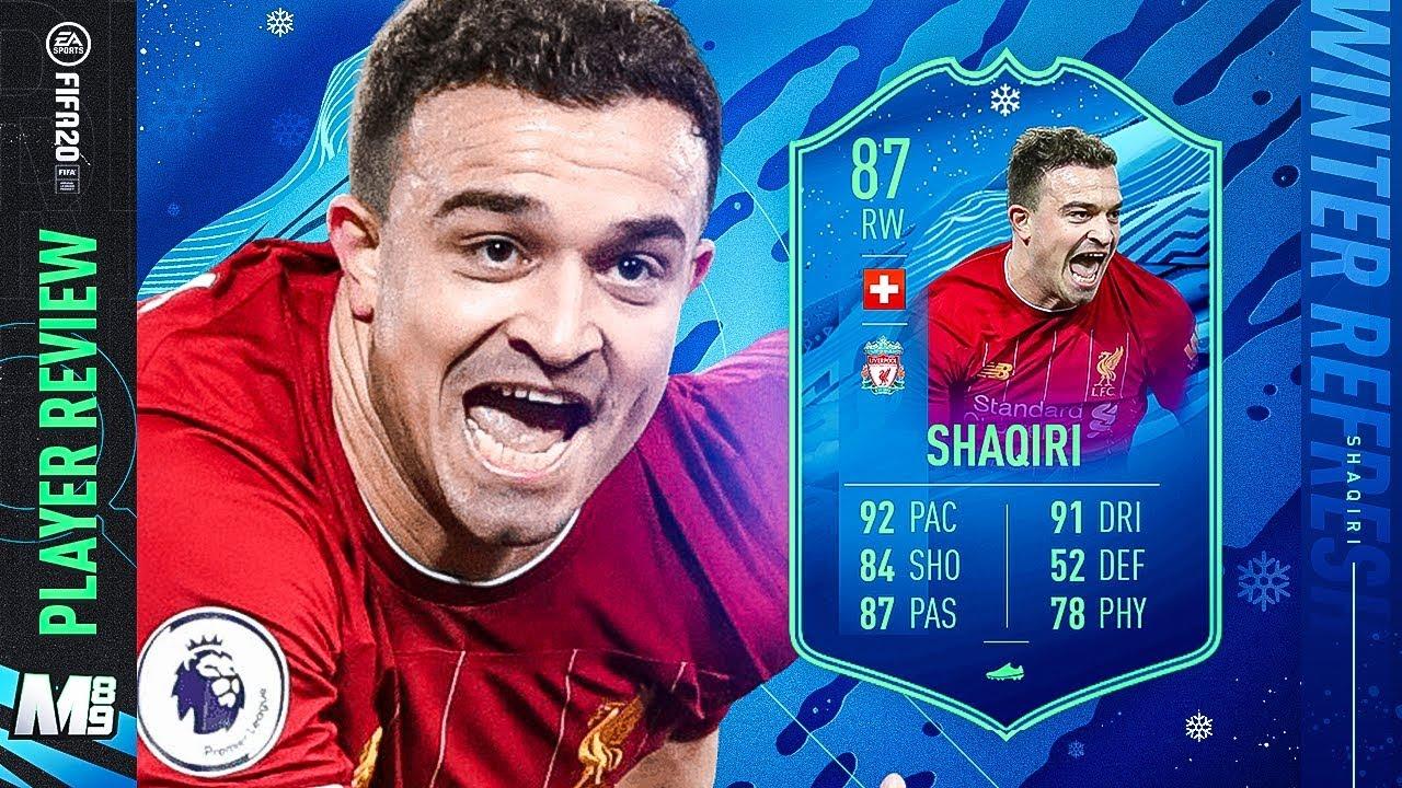 Winter Refresh Shaqiri Player Review 87 Winter Refresh Shaqiri Review Fifa 20 Ultimate Team Youtube