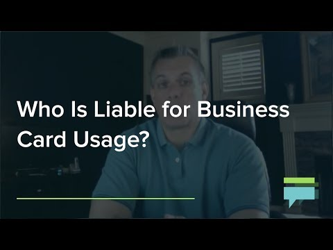 Who Is Liable For Business Card Usage