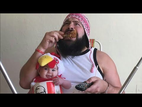 Funny Father Taking Care Of His Baby| Father And Baby Compilation